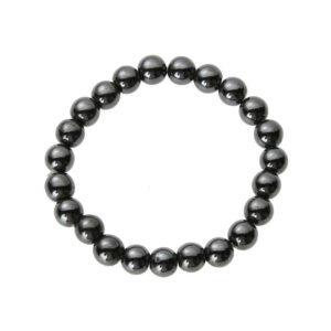 Metallic Bead Hematite Magnetic Therapy Bracelet
